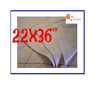 20 x STRONG WOVEN POLYPROPYLENE RUBBLE BUILDER SACK BAGS- *22x36