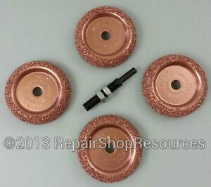 5pc Tire Changer Inner Liner Buffer  Wheels for Radial Repair Patch