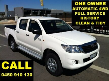 2013 Toyota Hilux GGN25R MY12 SR (4x4) Glacier White 5 Speed Automatic Dual Cab Pick-up Ellenbrook Swan Area Preview