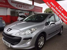 PEUGEOT 308 1.6 S 5d 118 BHP VERY CLEAN AND TIDY (silver) 2009
