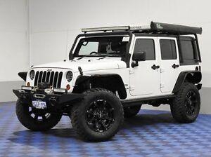 2012 Jeep Wrangler Unlimited JK MY13 Sport (4x4) White 6 Speed Manual Softtop Jandakot Cockburn Area Preview