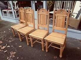 Beautifully detailed solid wood dining chairs