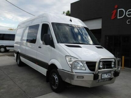 2011 Mercedes-Benz Sprinter NCV3 MY11 516CDI High Roof LWB Arctic White 5 Speed Automatic Van Heidelberg Heights Banyule Area Preview