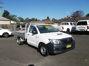 2014 Toyota Hilux KUN16R MY14 Workmate White 5 Speed Manual Cab Chassis North Richmond Hawkesbury Area Preview