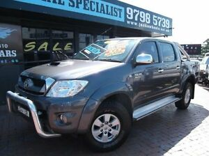 2010 Toyota Hilux KUN26R 09 Upgrade SR5 (4x4) Grey 4 Speed Automatic Dual Cab Pick-up Croydon Burwood Area Preview