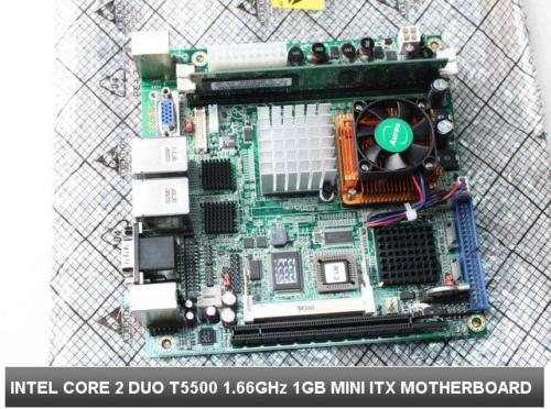Intel Mini-ITX Motherboard Core 2 Duo CPU 1 6GHz 1GB Dual