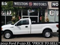 2012 Ford F-150 XL* PRICE TO SELL*NO CREDIT CHECK-FINANCE HERE!