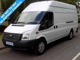 12(12) FORD TRANSIT JUMBO 2.2 RWD EL LWB 350 HIGH ROOF 125 BHP 6 SPEED NO VAT