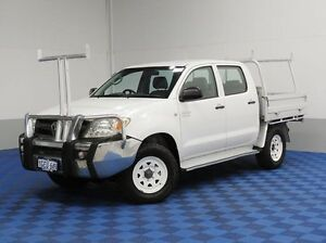 2005 Toyota Hilux GGN25R SR (4x4) White 5 Speed Manual Dual Cab Pick-up East Rockingham Rockingham Area Preview