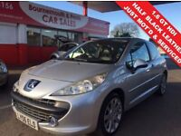 PEUGEOT 207 1.6 GT HDI 3d 108 BHP PANORAMIC GLASS ROOF HALF LE (silver) 2006