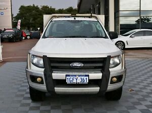 2012 Ford Ranger PX XL White 6 Speed Manual Cab Chassis