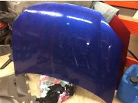 Mk5 golf bonnet and wing , 05-07 models blue or red here