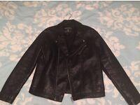 Faux men's leather jacket size medium