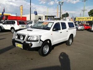 2014 Toyota Hilux KUN26R MY14 SR (4x4) White 5 Speed Automatic Double Cab Chassis North Richmond Hawkesbury Area Preview