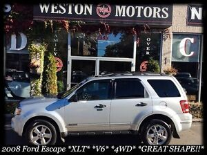 2008 Ford Escape XLT*V6*4WD*100% FINANCE APPROVED!*