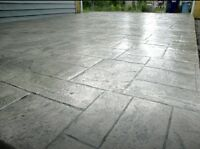 Decorative concrete to spice up your curb appeal!!!