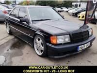 1990 MERCEDES-BENZ 190E 2.6 V6 COSWORTH REPLICA MANUAL LONG MOT 4DR 166 BHP