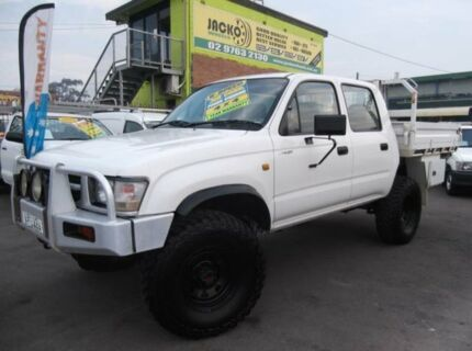 1998 Toyota Hilux RZN169R (4x4) White 5 Speed Manual 4x4 Dual Cab Pick-up Homebush Strathfield Area Preview