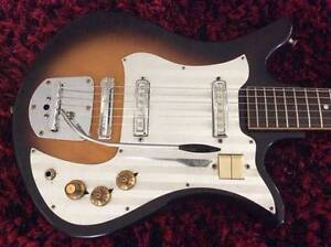 Vintage 60's Decca (Teisco) 2PUP MIJ Electric Guitar & Whammy Bar Ormeau Gold Coast North Preview