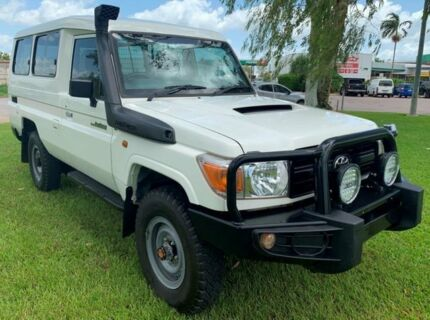 2014 Toyota Landcruiser VDJ78R MY13 Workmate Troopcarrier White 5 Speed Manual Wagon Berrimah Darwin City Preview