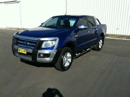 2013 Ford Ranger PX XLT 3.2 (4x4) Blue 6 Speed Manual Dual Cab Utility Maryville Newcastle Area Preview