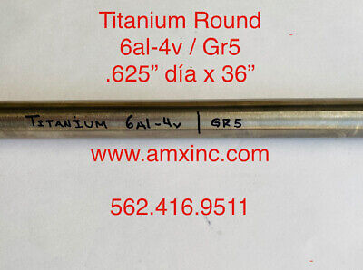Titanium Round Bar 6al-4v .625 Dia X 36 Long