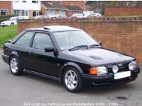 ford escort rs turbo s2 parts wanted - sunroof , head cloth, bonnet and rubber mats