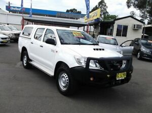 2014 Toyota Hilux KUN26R MY14 SR (4x4) White 5 Speed Manual Dual Cab Pick-up North Richmond Hawkesbury Area Preview