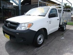 2007 Toyota Hilux TGN16R 06 Upgrade Workmate White 5 Speed Manual Cab Chassis Homebush Strathfield Area Preview
