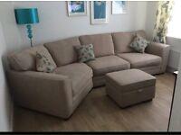 Large beige Harveys corner sofa