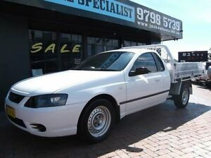 2007 Ford Falcon BF MkII XL White 4 Speed Auto Seq Sportshift Cab Chassis Croydon Burwood Area Preview