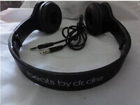 NEW DR DRE SOLO HD WIRED HEADPHONES BLACK BN BNWT NEW IN BOX FOR MP3 PLAYER IPOD PC LAPTOP TABLET