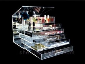 ICE BOX MAKEUP ACRYLIC ORGANIZER AS SEE ON TV SEE PICTURES