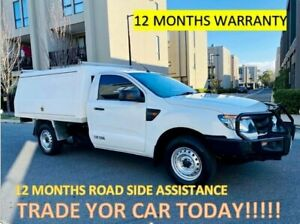 2013 Ford Ranger PX XL White 6 Speed Manual Cab Chassis Maidstone Maribyrnong Area Preview