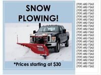 SNOW CLEARING, DRIVWAY PLOWING!!                  682-7262