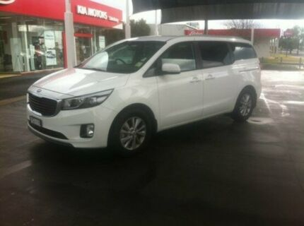 2015 Kia Carnival YP MY15 SI Clear White 6 Speed Auto Seq Sportshift Wagon Dubbo 2830 Dubbo Area Preview