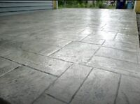 Stamped, exposed concrete to add to that curb appeal!!