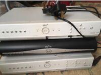 Sky + HD Amstrad DRX280 + DRX890 TV Receivers+Thomson 80GB Personal Storage NR!