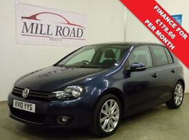VOLKSWAGEN GOLF 2.0 GT TDI 5d 138 BHP ***CAMBELT CHANGED*** (blue) 2010