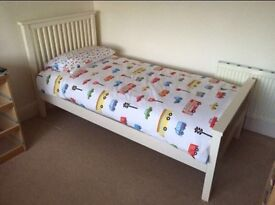 Cream painted single bed frame