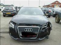 Audi A3 spares or repair sline damaged black 5 Door