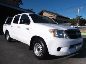 2007 Toyota Hilux GGN15R 07 Upgrade SR White 5 Speed Automatic Dual Cab Pick-up Homebush Strathfield Area Preview