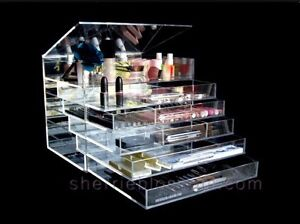 ICE BOX MAKEUP ACRYLIC ORGANIZER AS SEEN ON TV SEE PICTURES