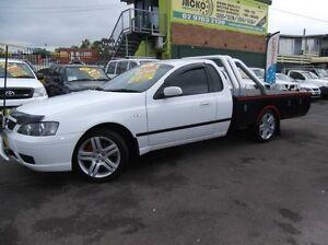 2006 Ford Falcon BF XLS White 4 Speed Auto Seq Sportshift Cab Chassis Homebush Strathfield Area Preview