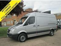 2013 13 MERCEDES SPRINTER 213CDI MWB HIGH ROOF. AUTOMATIC. METALLIC SILVER.