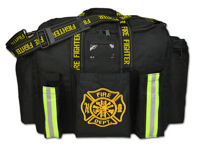 Personalized Firefighter Fireman Xl Step-in Turnout Fire Gear Bag Red Or Black