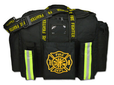 Personalized First Responder Fireman Xl Step-in Turnout Fire Gear Bag Black