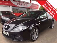 SEAT LEON 2.0 FR TDI 5d 168 BHP READY TO GO TODAY !! (black) 2007