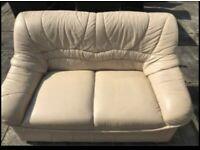 FREE 2 x cream leather sofas