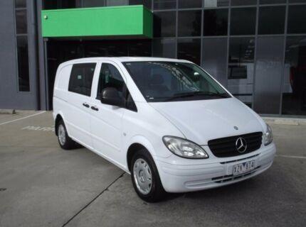 2009 Mercedes-Benz Vito MY09 111CDI Compact Crew Cab White 5 Speed Automatic Van Preston Darebin Area Preview